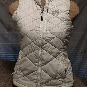 Sleeveless White North face Puff Jacket